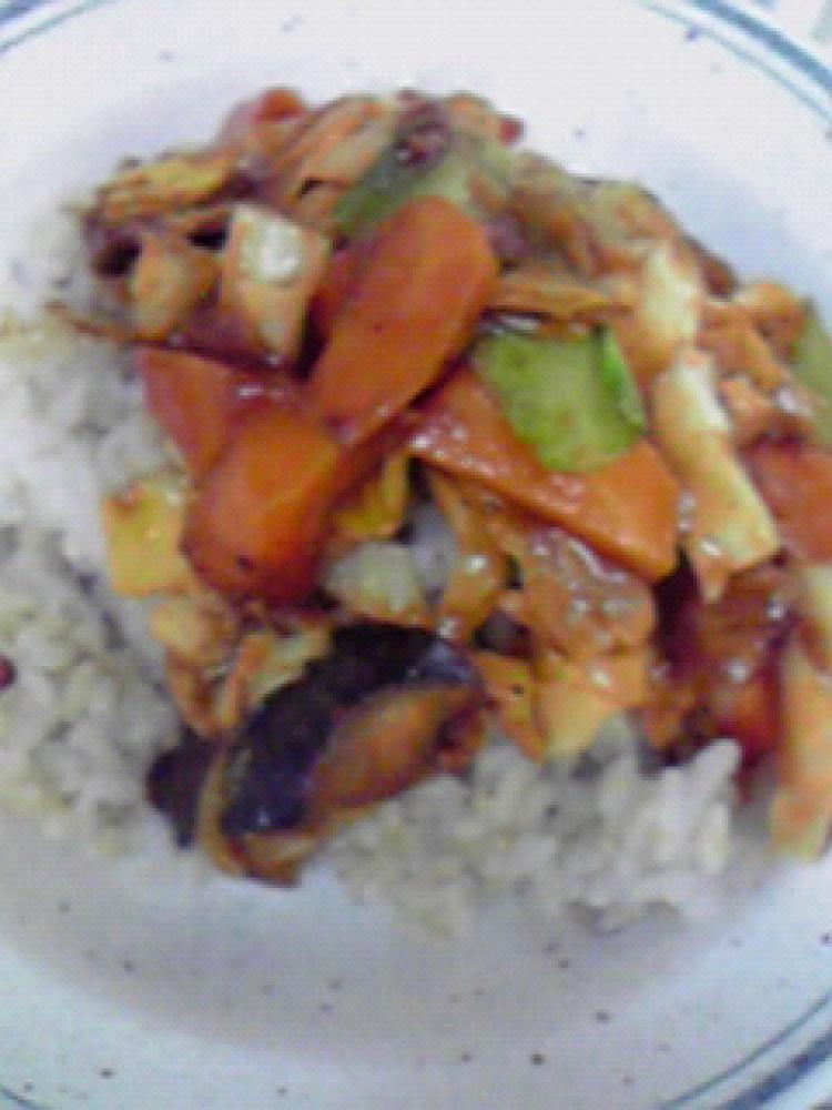 レンジで簡単☆秋野菜の味噌蒸し♪