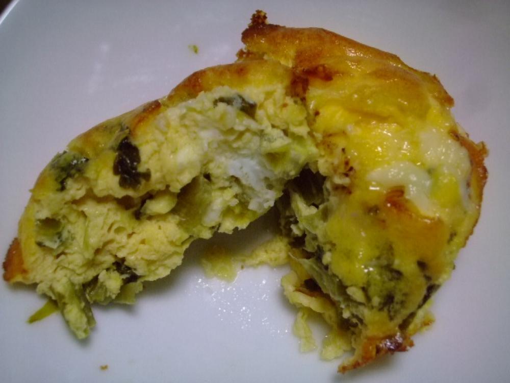トースターで簡単☆高菜のマヨオムレツ
