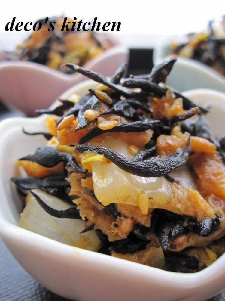 ひじきと白菜の、韓国風炒め