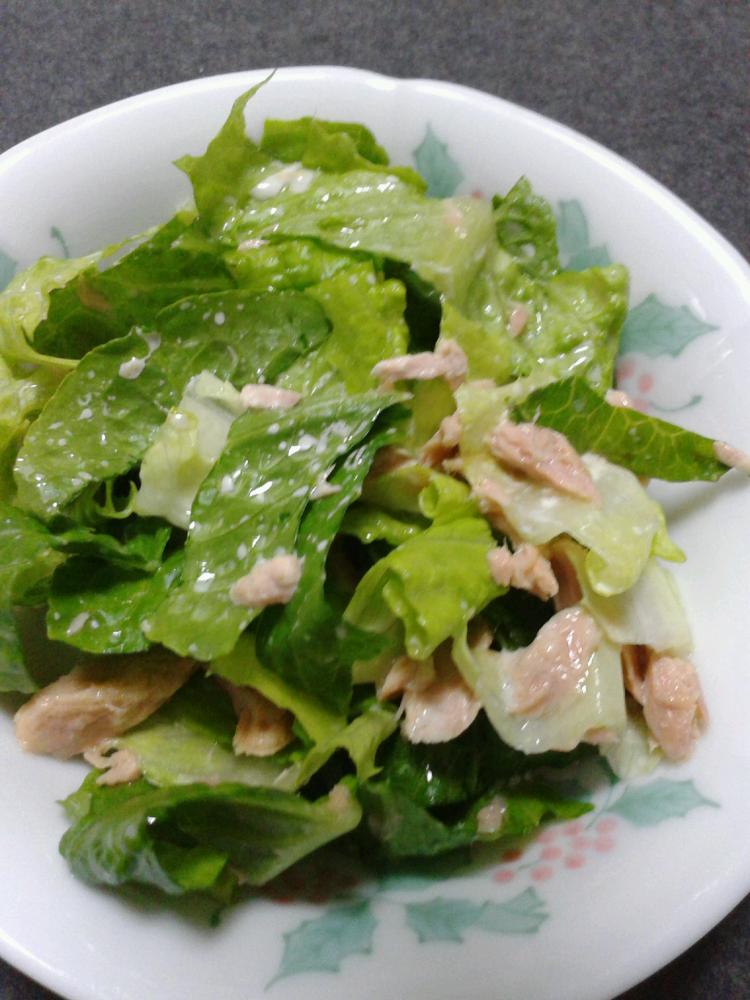 簡単おいしい☆ツナとレタスのサラダ♪