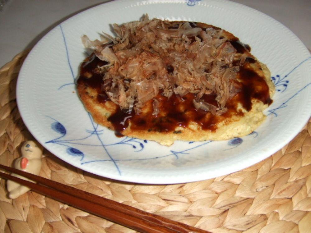 ヘルシー♪山の芋と桜エビのお好み焼き