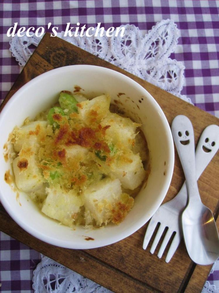 長芋と枝豆の、コロコロココット焼き