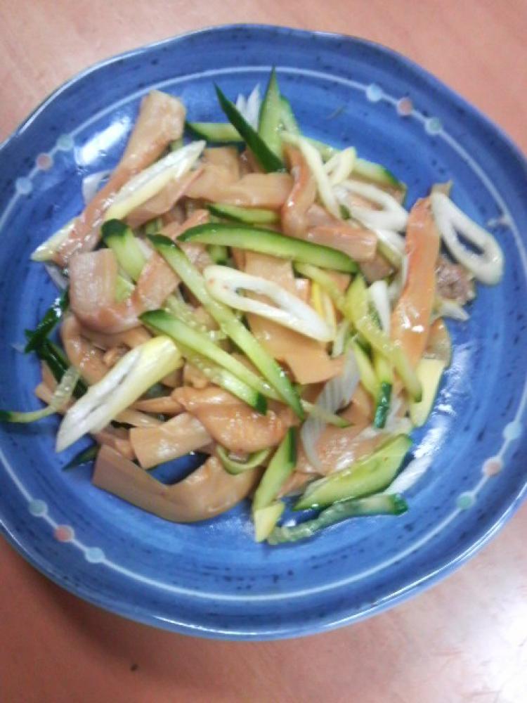 メンマと野菜の和え物