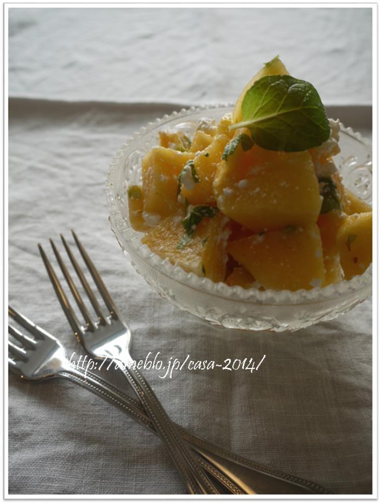 柿とカッテージチーズのマリネ