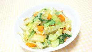 野菜炒め(柚子胡椒、胡麻油)