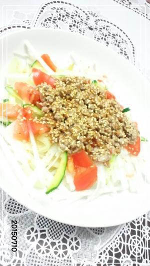 納豆の中華サラダ