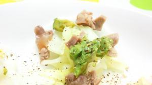 野菜と砂肝の大根カナッペ