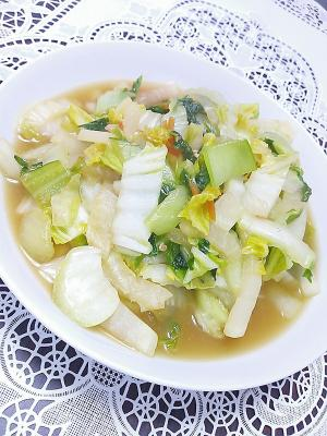 白菜・大根・青梗菜のうま煮炒め