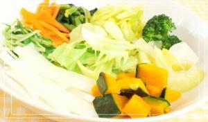 9種の温野菜プレート