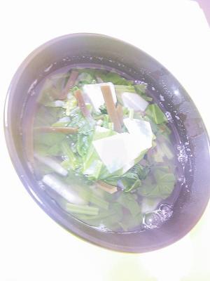 ほうれん草・大根・昆布のスープ