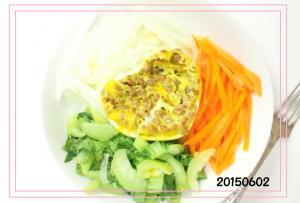 納豆入り卵とワンプレート温野菜サラダ