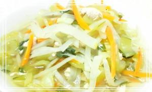 細切り野菜とささみのくたっと煮