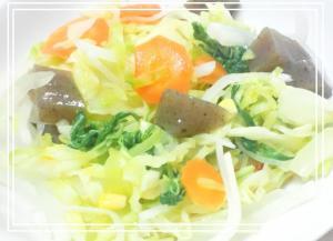 野菜サラダ*人参大根水菜蒟蒻キャベツなど